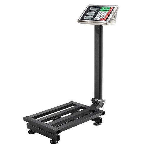 LCD Digital Personal Floor Postal Platform Scale Black UK Plug