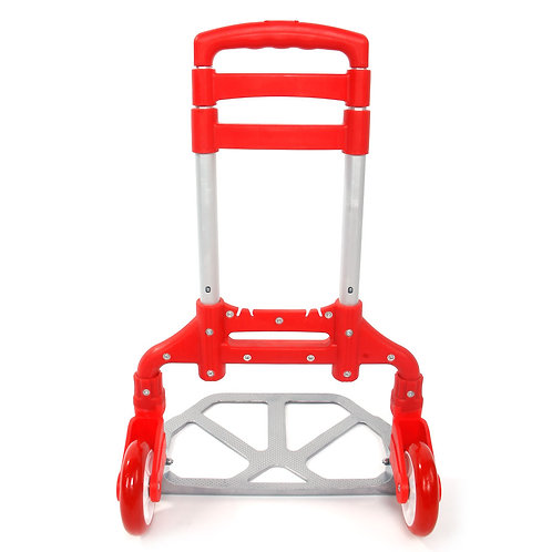 Portable Folding Collapsible Aluminum Cart Dolly Push Truck Trolley Red