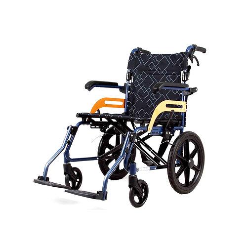 Foldable Aluminium Frame Portable Transit Travel Wheelchair