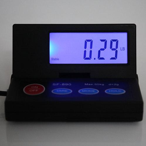 [US-W]SF-890 50KG/1g Portable Plastic Electronic Scale Black