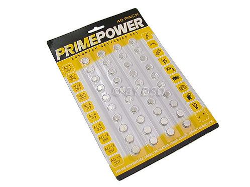 PrimePower 480 Piece Assorted Button Cell Battery Set