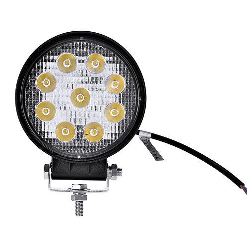 27W LED Work LightFog Round Lamp Truck Off Road Flood Lights Driving Lamp