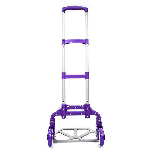 Portable Folding Collapsible Aluminum Cart Dolly Push Truck Trolley Purple