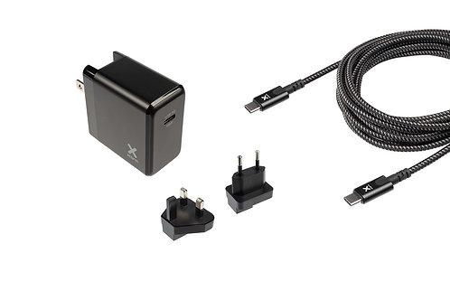 Xtorm - USB-C PD (65W) Volt Laptop Global Travel Charger & USB-C PD Cable