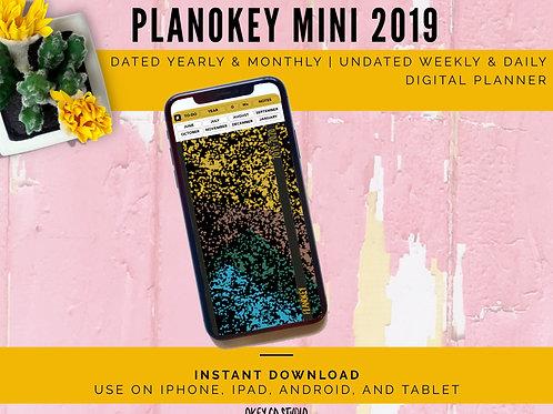 PLANOKEY MINI Digital Planner Late 2019 YELLOW