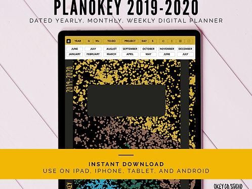 PLANOKEY Digital Planner 2019-2020 - Yellow