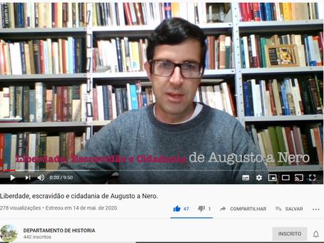 """Novo vídeo: """"Liberdade, escravidão e cidadania de Augusto a Nero"""", por Fabio Joly (docente, UFOP)"""