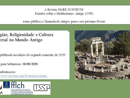 Chamada de artigos: Revista Mare Nostrum convida para dossiê sobre religiosidade e cultura material