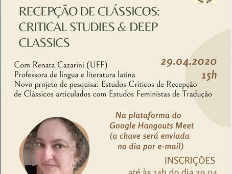 Novo ciclo de palestras online: LEC-UFF na quarentena!