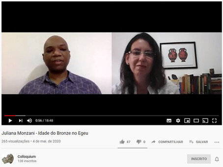Colloquium: Idade do Bronze no Egeu, com Juliana Monzani (docente, Unicid)
