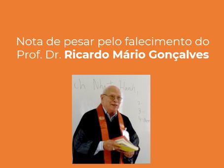 Nota de pesar pelo falecimento do Prof. Dr. Ricardo Mário Gonçalves