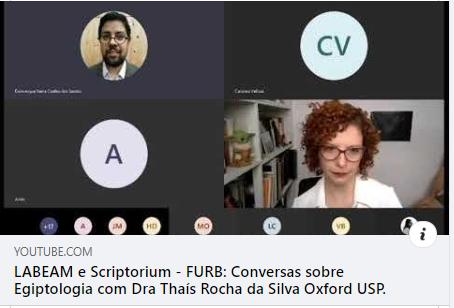 Novo vídeo no canal LABEAM/FURB: Thaís Rocha fala sobre a pesquisa em Egiptologia