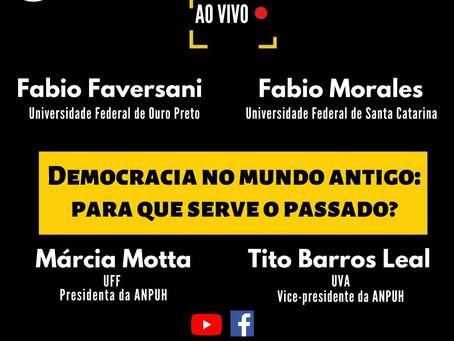 """31/julho, 18h: Fabio Faversani e Fabio Morales discutem Democracia e Antiguidade no """"Em Prosa"""" ANPUH"""