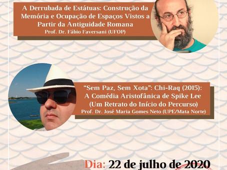 Dia 22/julho: Fabio Faversani e Jose Maria Neto participam do I Ciclo do GEEPA/UPE