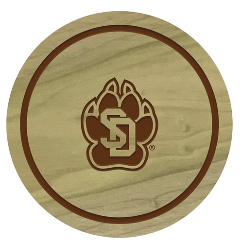 South Dakota Coyotes Wood Coaster Set