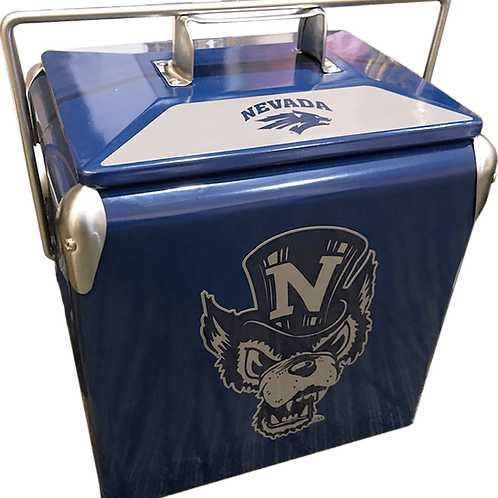 Nevada Wolf Pack Retro Cooler