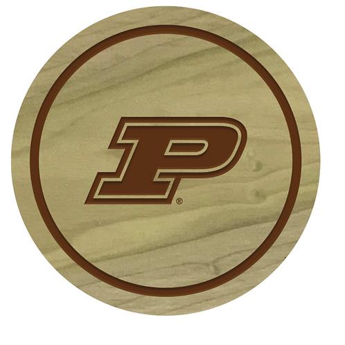 Purdue Boilermakers Wood Coaster Set