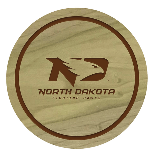 North Dakota Fighting Hawks Wood Coaster Set