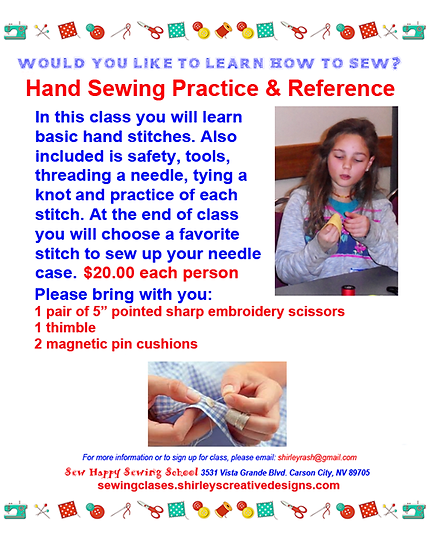 4. HAND SEWING PRACTICE AND REFERENCE FL
