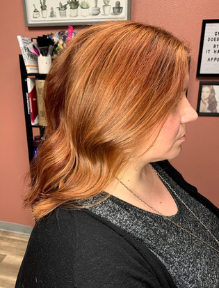partial highlight + toner + color in between