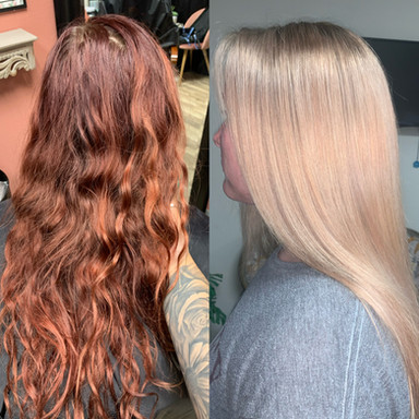 color correction - red to blonde
