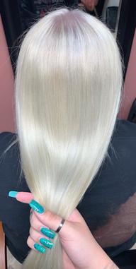double process blonde + toner