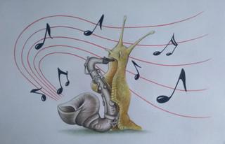 Escargot saxophone