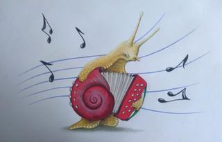 Escargot accordéon