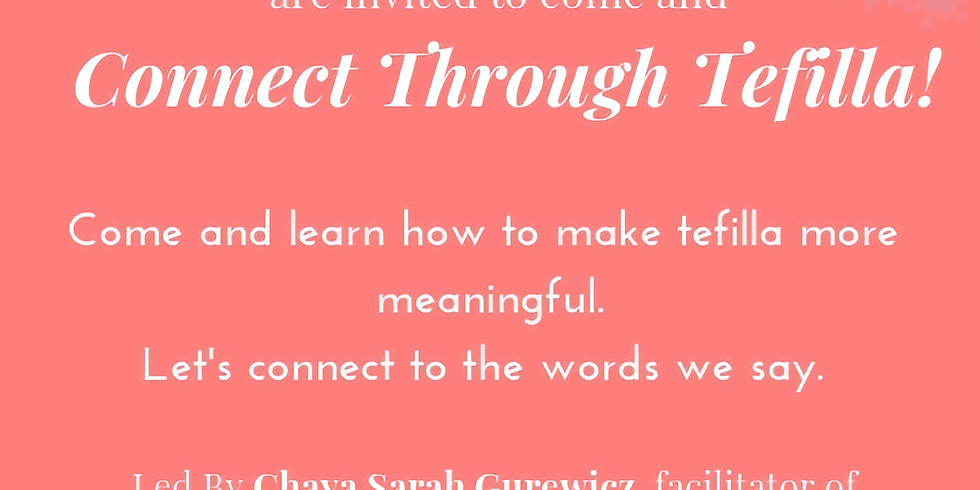 Mothers and Daughters- Connect through Tefillah!
