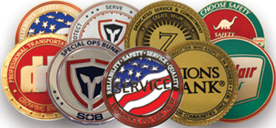 Recognition Coins, Years of Service Coins, Achievment Coins