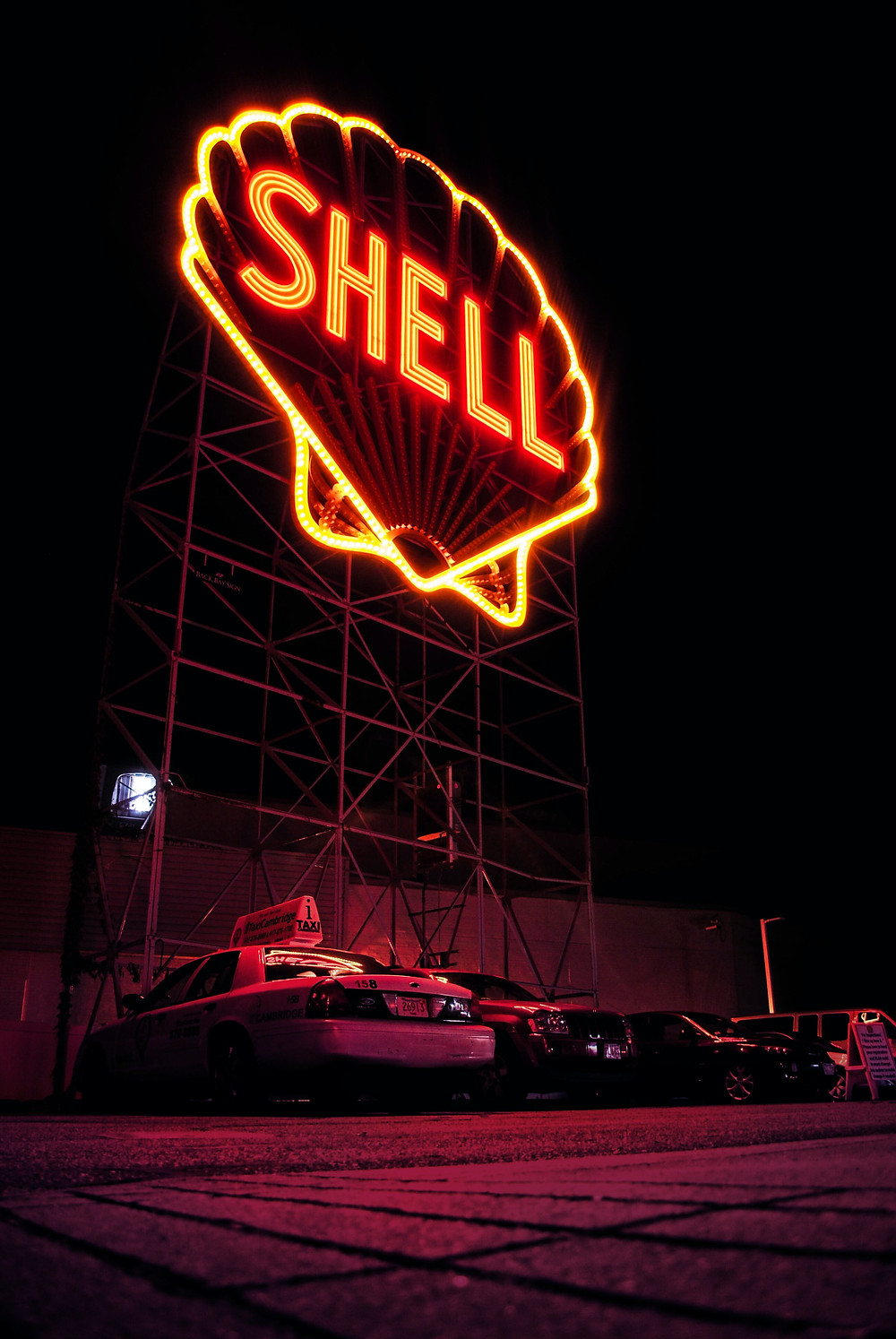 The Shell Oil logo displayed