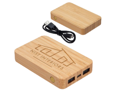Bamboo Dual-Port Charger