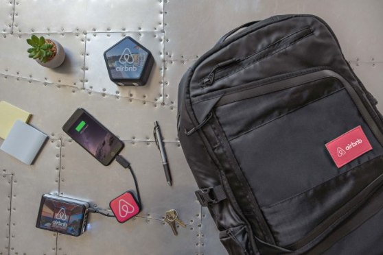 Custom backpack, battery pack, connector cord, and portable speaker.