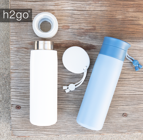 Two reusable water bottles