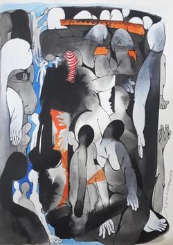 Pareidolia-Shrutika Gosavi-Ink on paper-