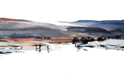 Shroud of mist-oil on canvas-55x86 in-Si
