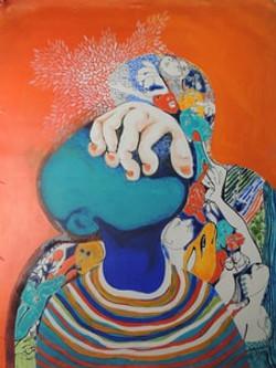 Virat Roopa-Ink & Acrylic on canvas-46x6