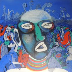 Qahar- Ink & Acrylic on canvas-60x60cm-2