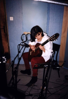 En studio pour un album de Céline Blasco