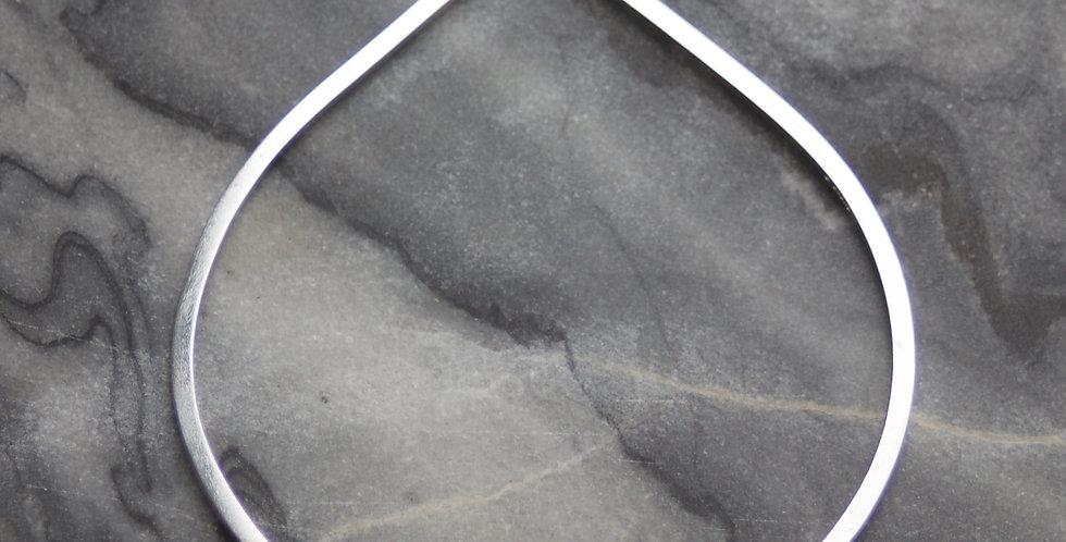LC Right Angle Solid Silver Bangle