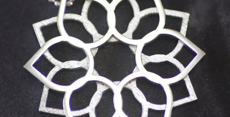 3D Printed Silver LC Layered Pendant