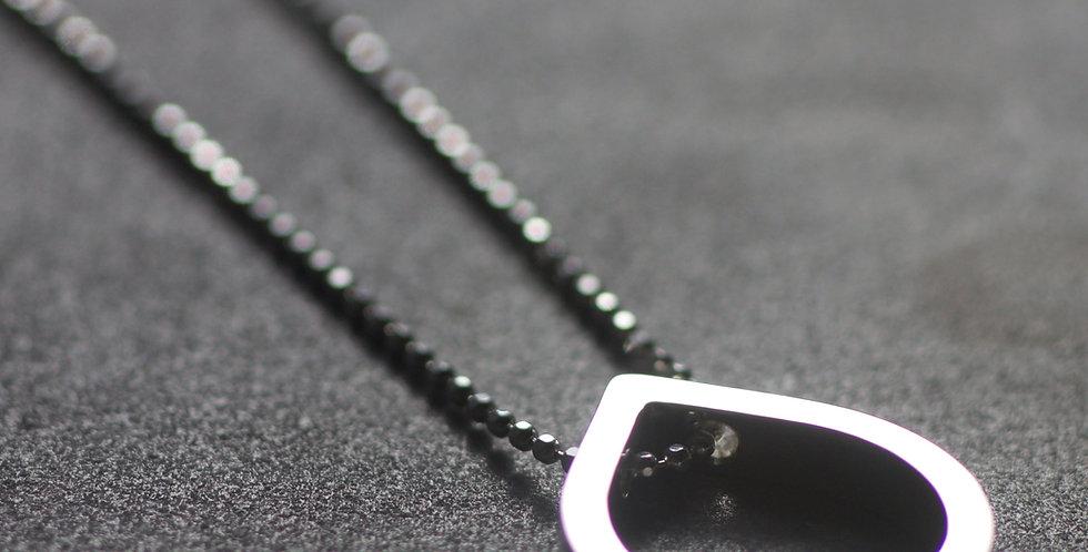 Silver LC Frame Slider Necklace