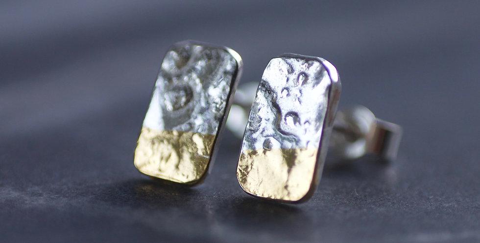 LINEAR Mini Dip Block Stud Earrings
