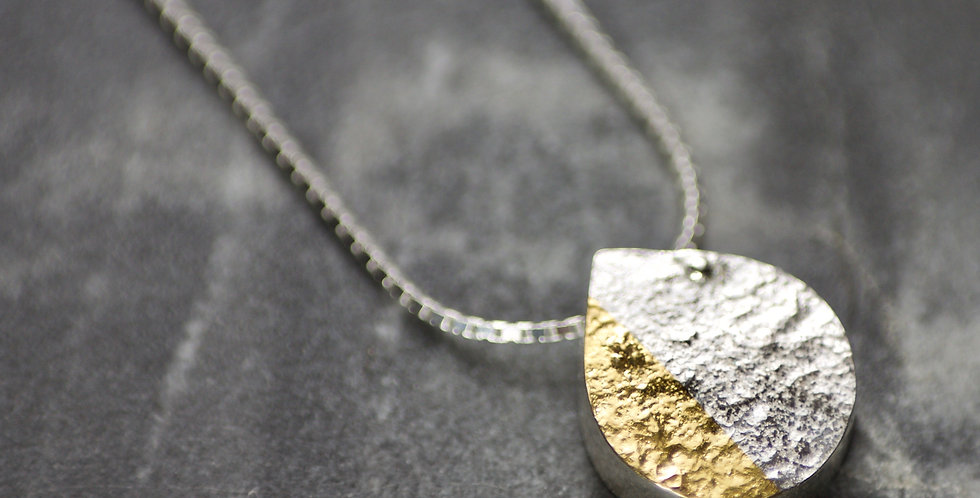 Silver & Gold Handmade LC Slider Necklace