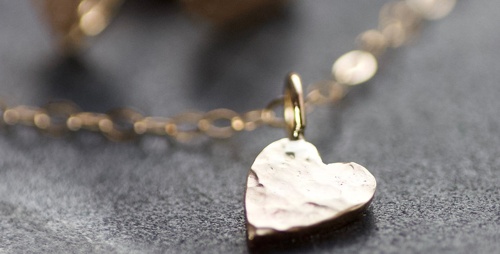 LIMITED EDITION Solid 9ct Gold Heart Delicate Necklace