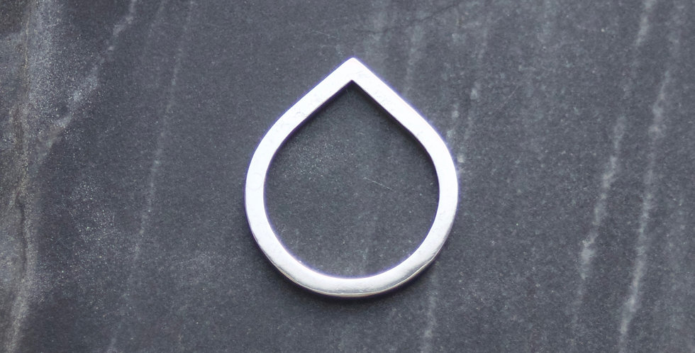 LC Right Angle Solid Silver Ring