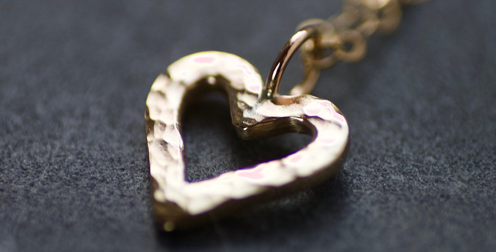 LIMITED EDITION Solid Recycled 9ct Gold Open Heart Delicate Necklace