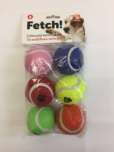 Tennis Balls - Pack of 6