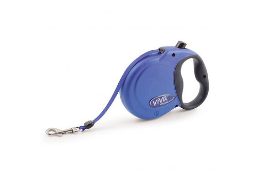 Blue Ancol Viva Retractable Tape Lead