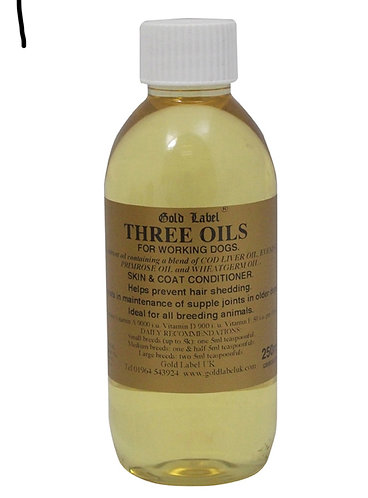 Gold Label - Three Oils for Working Dogs - 250ml
